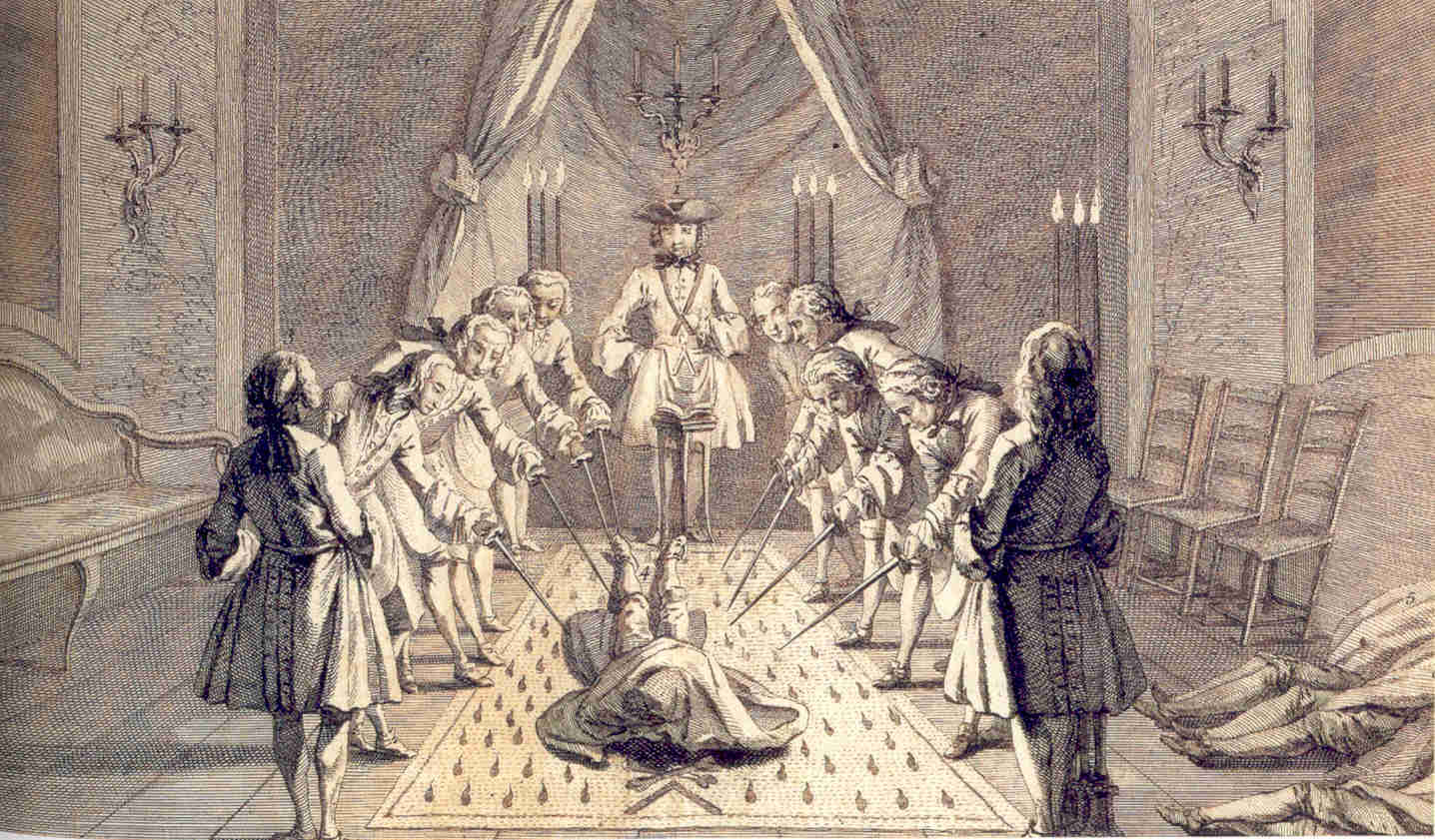 Second part of the initiation into the third degree