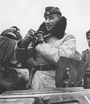 SS Oberstgruppenfuhrer Paul Hausser (seen here as an Obergruppenfuhrer while commanding the Das Reich Division in Russia, winter 1941) was unquestionably the ablest military commander in the Waffen SS. After the war he sought to re-establish the reputation of the SS and claimed that the foreign units of the SS were really the precursors of the NATO army.