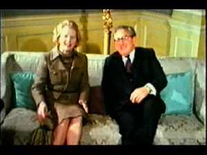 Henry Kissinger and Margaret Thatcher